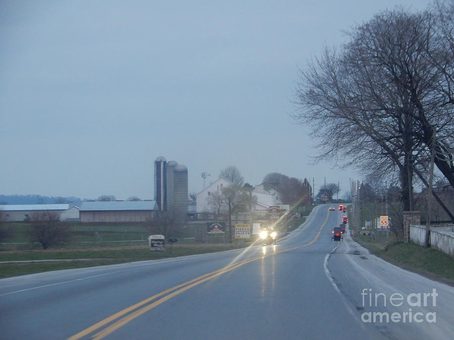 Amish Photograph - A Calm April Evening by Christine Clark
