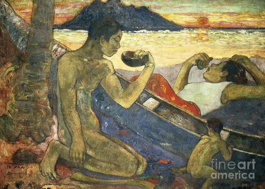 Boat Painting - A Canoe by Paul Gauguin