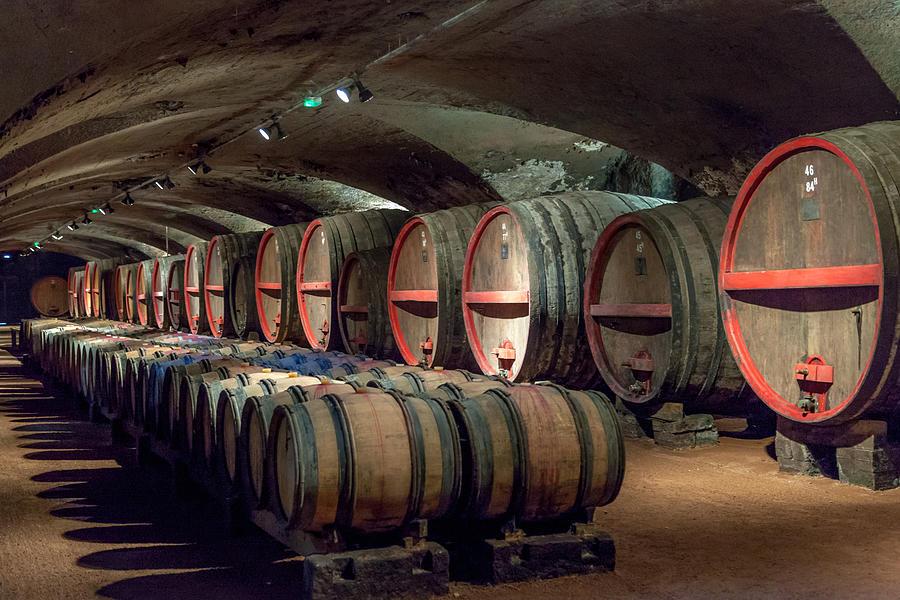 Burgundy Photograph - A Cellar Of Burgundy by W Chris Fooshee