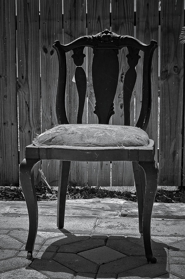 Chair Photograph - A Chair In Despair by DigiArt Diaries by Vicky B Fuller