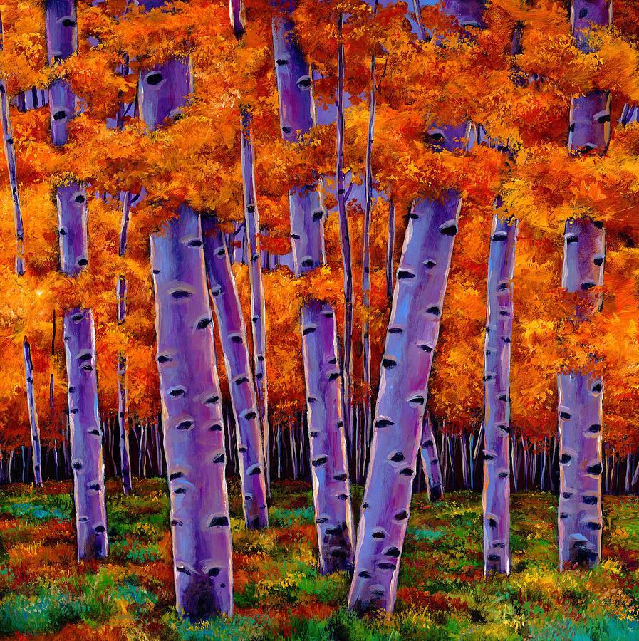 Aspen Trees Painting - A Chance Encounter by Johnathan Harris