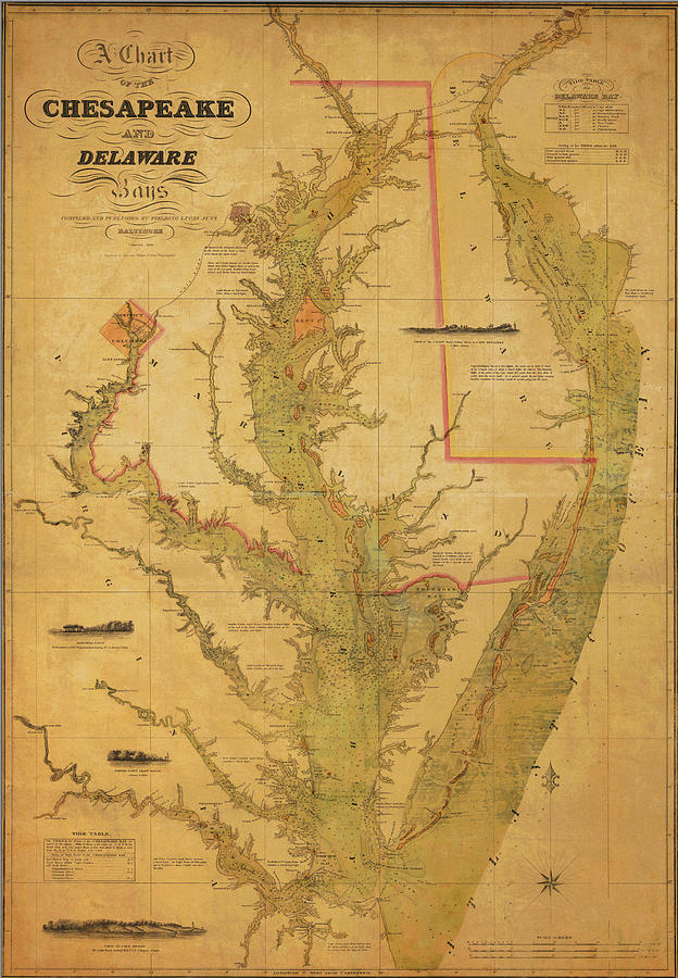 Chesapeake Bay Photograph - A Chart Chesapeake And Delaware by Randy Vreeke