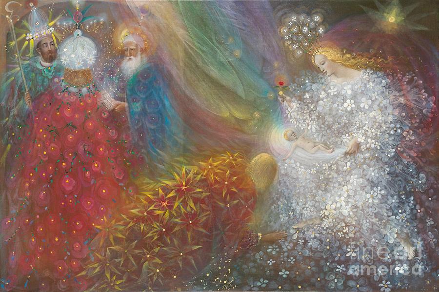 Nativity Painting - A Child Is Born by Annael Anelia Pavlova