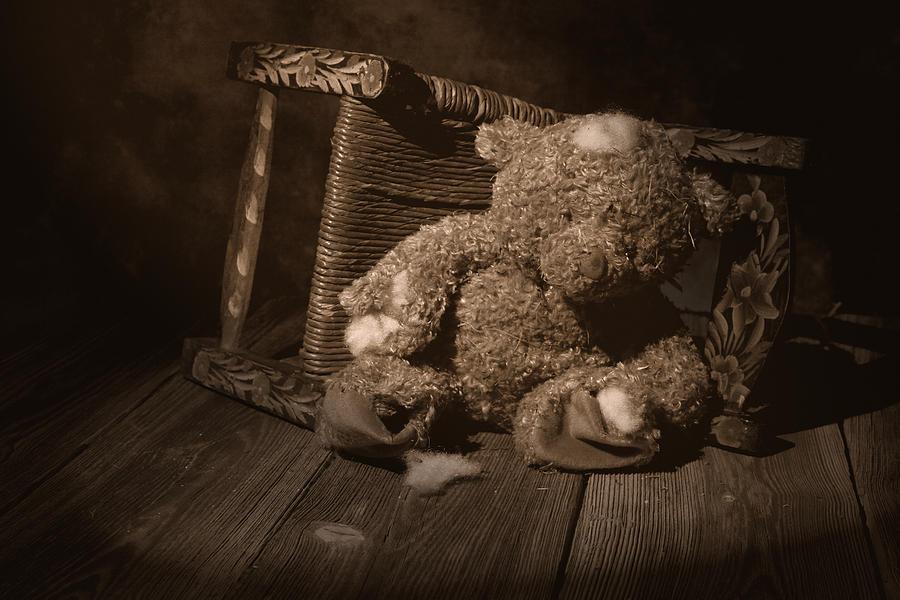 Teddy Bear Photograph - A Child Once Loved Me by Tom Mc Nemar