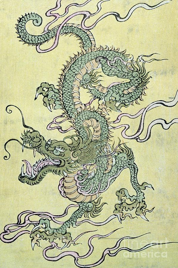 A Chinese Dragon Painting by Chinese School