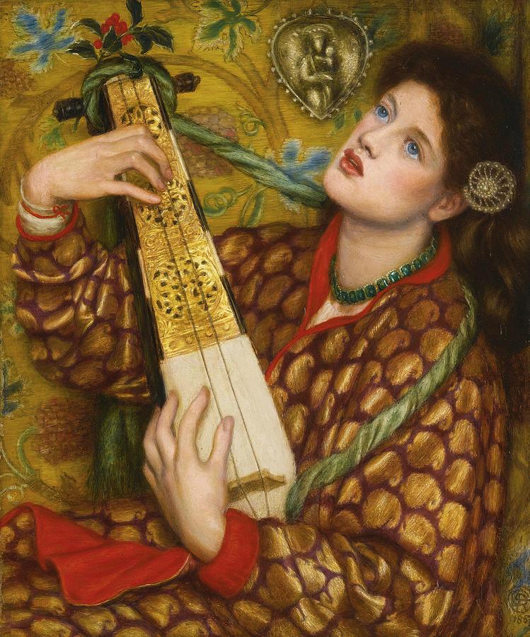 Dante Gabriel Rossetti Painting - A Christmas Carol by Dante Gabriel Rossetti