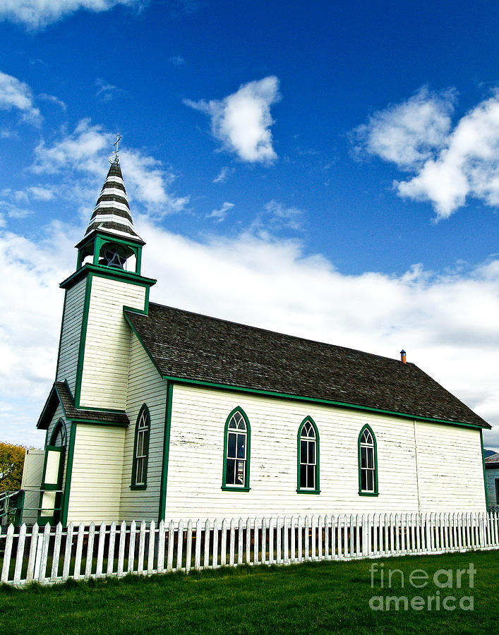 History Photograph - A Church In The Eighteen Hundreds Town Of Fort Steele Bc Canada by Emilio Lovisa