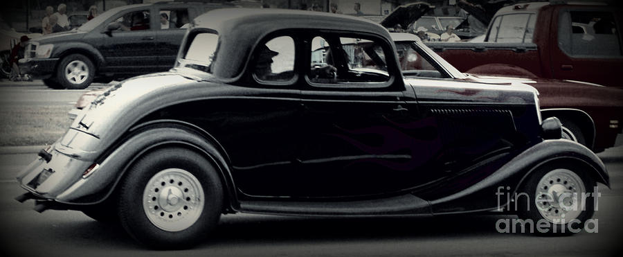 Classic Car Photograph - A Classic In Motion by Emily Kelley