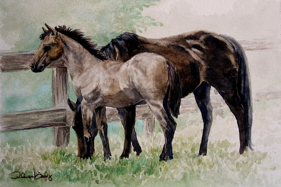 Horse Painting - A Clearing Mist by Theresa Higby