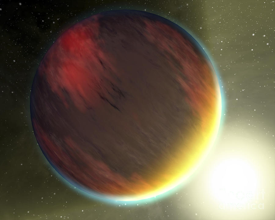 Bright Digital Art - A Cloudy Jupiter-like Planet That by Stocktrek Images