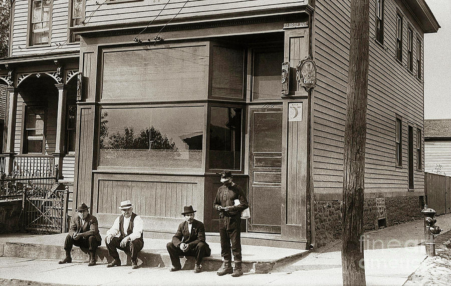 Bar Photograph - A Coal Miners Bar  George Ave Parsons Pennsylvania Early 1900s by Arthur Miller