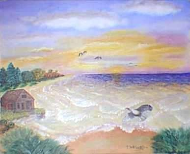 A Coastal Delight Painting by Tanna Lee Wells