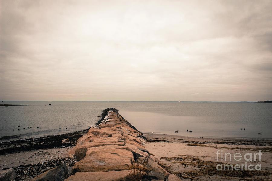 Compo Beach Photograph - A Cold Compo Beach  by Victory Designs