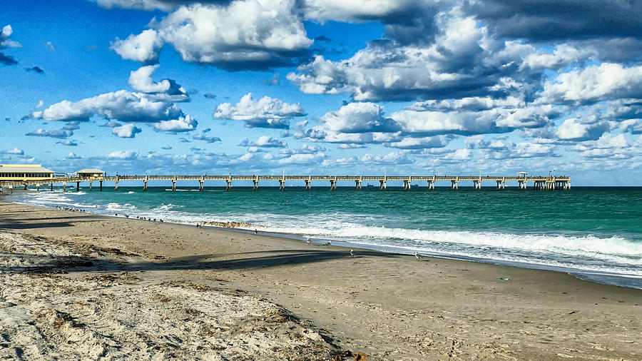 Beach Photograph - A Cold Day In Florida 62f by Dieter Lesche