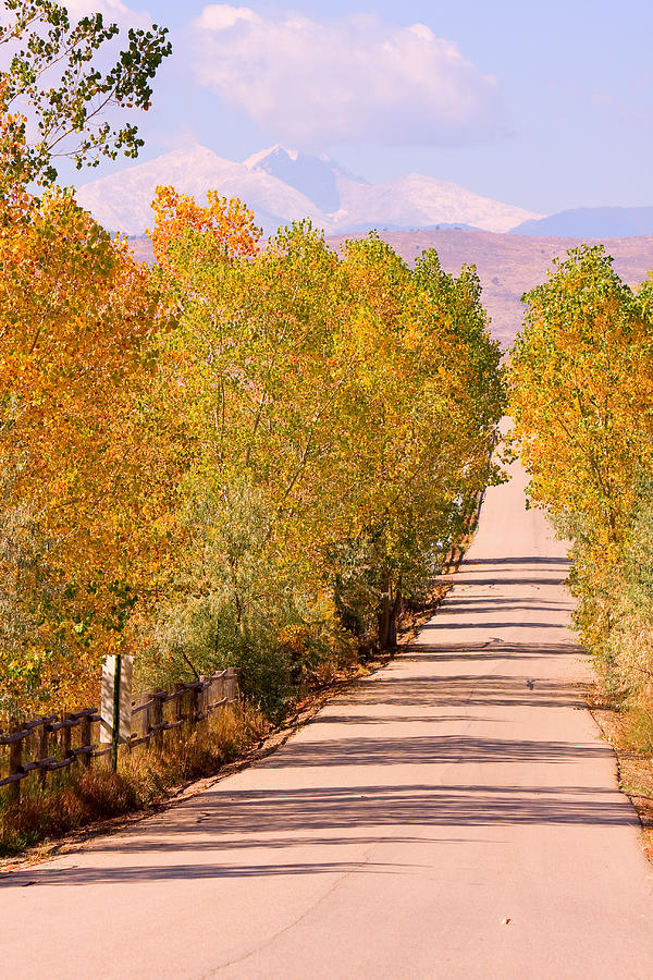 Rockymountains Photograph - A Colorful Country Road Rocky Mountain Autumn View  by James BO  Insogna