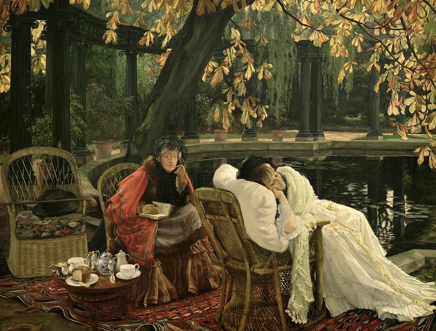 Garden Painting - A Convalescent by James Jacques Joseph Tissot