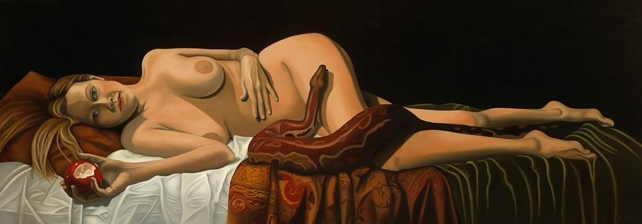 Figurative Painting - A Convenient Myth II by Tina Blondell
