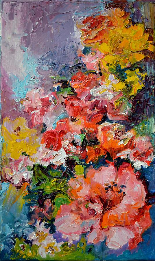 Floral Oil Paintings Framed