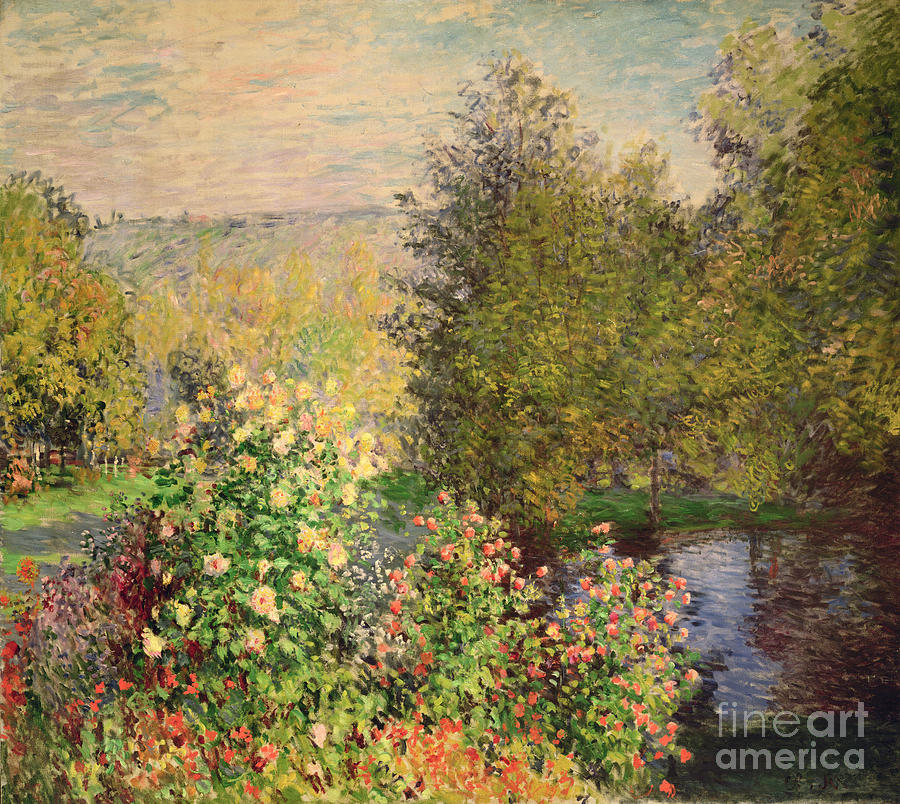 Corner Painting - A Corner Of The Garden At Montgeron by Claude Monet