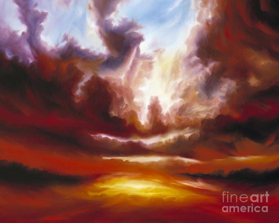 Tempest Painting - A Cosmic Storm - Genesis V by James Christopher Hill