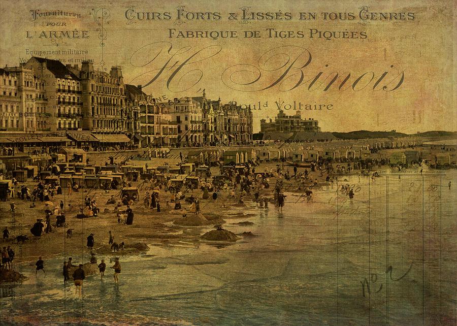 Beach Digital Art - A Cote De La Mer by Sarah Vernon