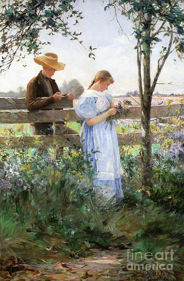 Country Painting - A Country Romance by David B Walkley