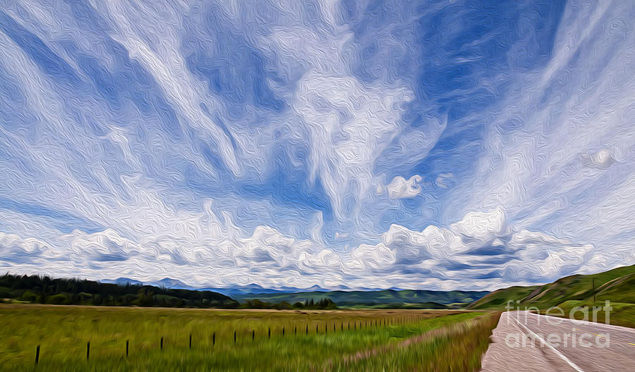 Manipulation Photograph - A Country Scene by Vivian Christopher