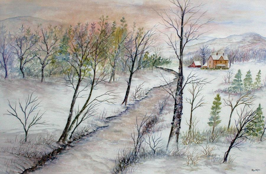 A Country Winter Painting by Ben Kiger