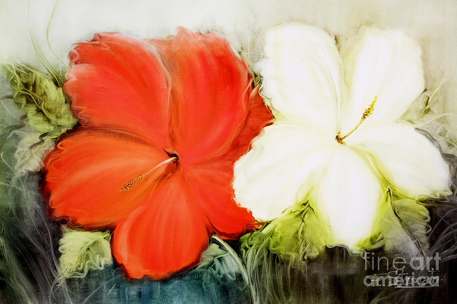 Flowers Painting - A Couple Of Flowers by Fatima Stamato