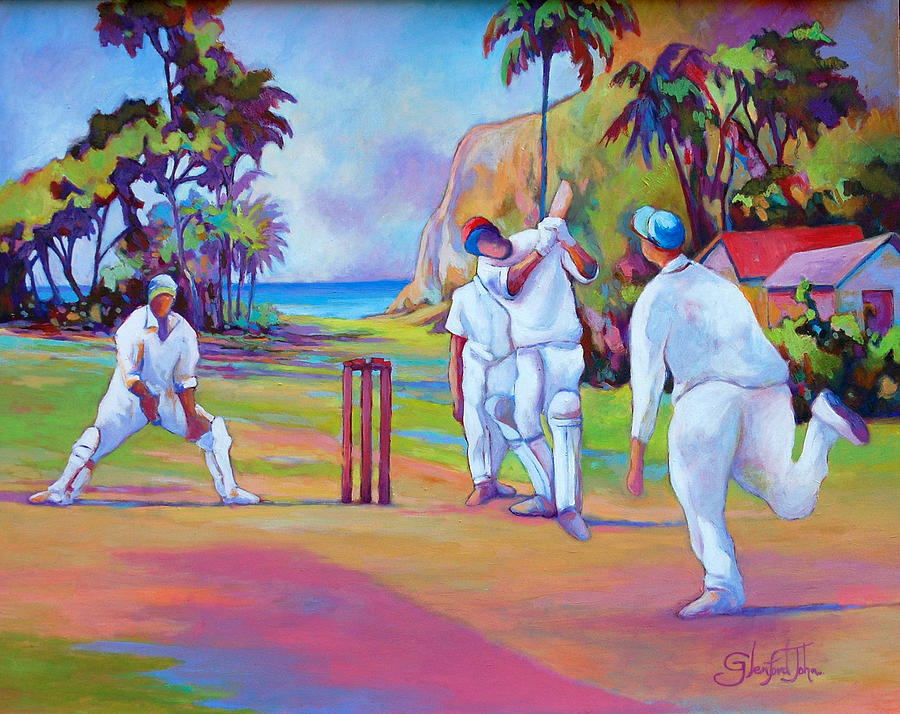 A cricket game by Glenford John
