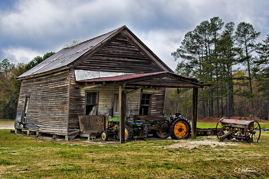 Barn Photograph - A Crooked Little Barn by Christopher Holmes