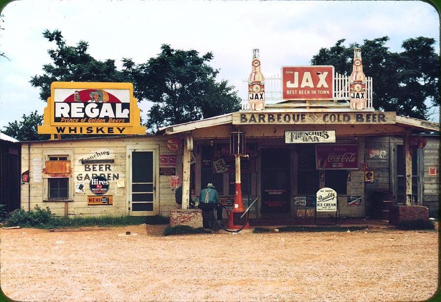 1940s Photograph - A Cross Roads Store, Bar, Juke Joint by Everett