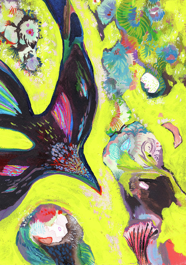 Crow Painting - A Crows Dream - Ss18dw019 by Satomi Sugimoto