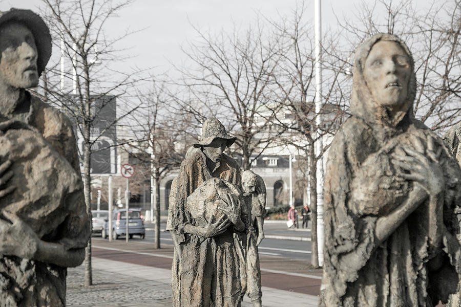Ireland Photograph - A Cruel World The Famine Sculpture by Betsy Knapp