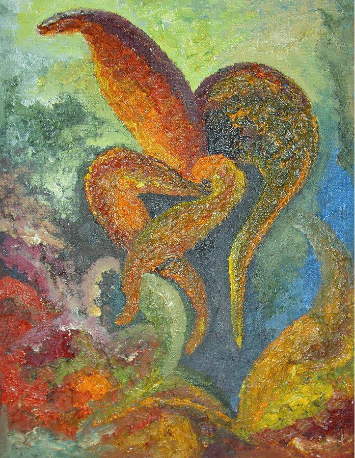 Flower Painting - A Dancing Flower by Karina Ishkhanova