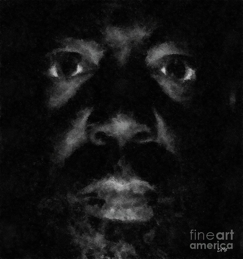 Portraits Drawing - A Dark Proud Man by Dragica  Micki Fortuna