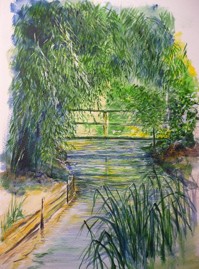 Giverny Painting - A day at Giverny by Lizzy Forrester