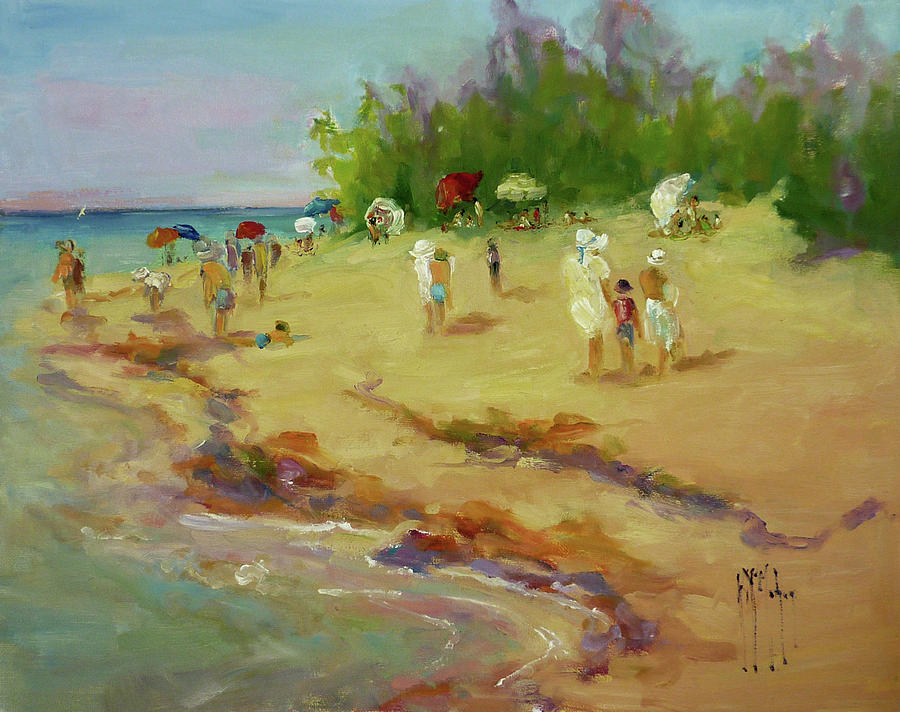 Beach Painting - A Day At The Beach by Kathryn McMahon