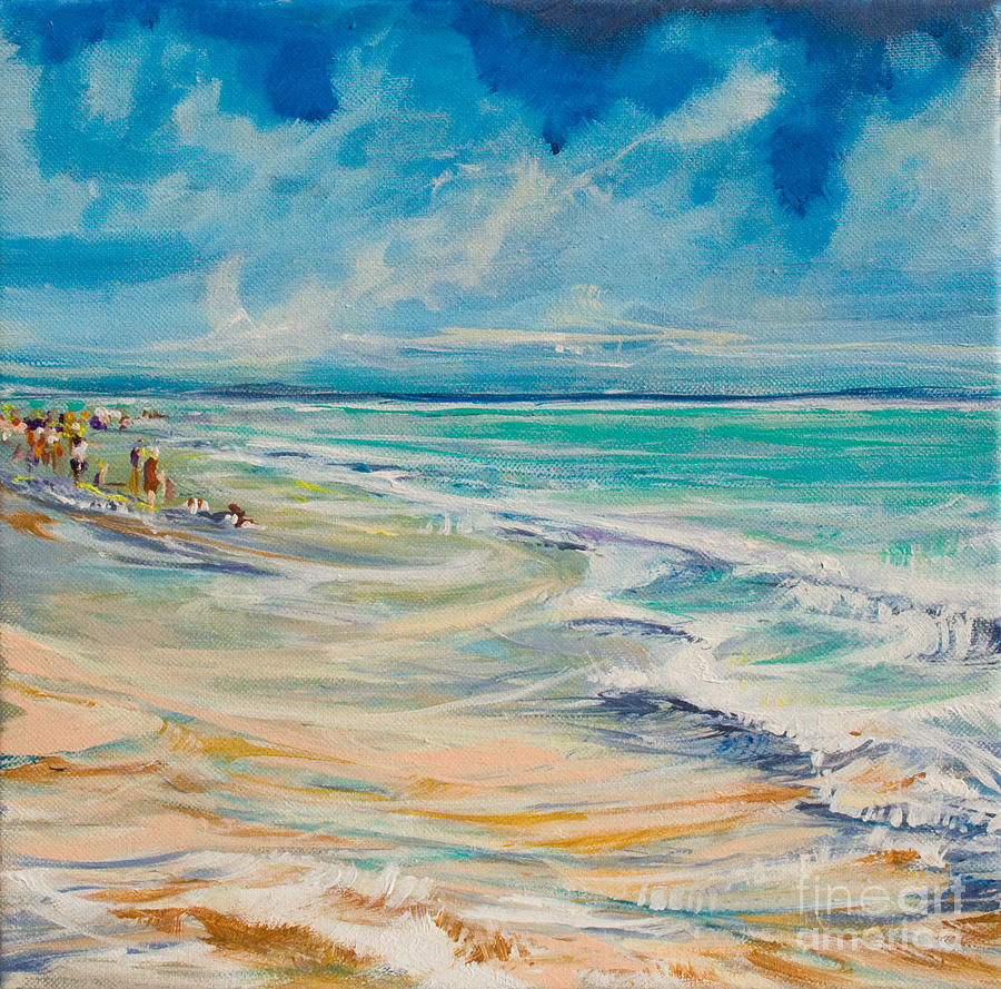 Beach Painting - A Day At The Beach by Michele Hollister - for Nancy Asbell