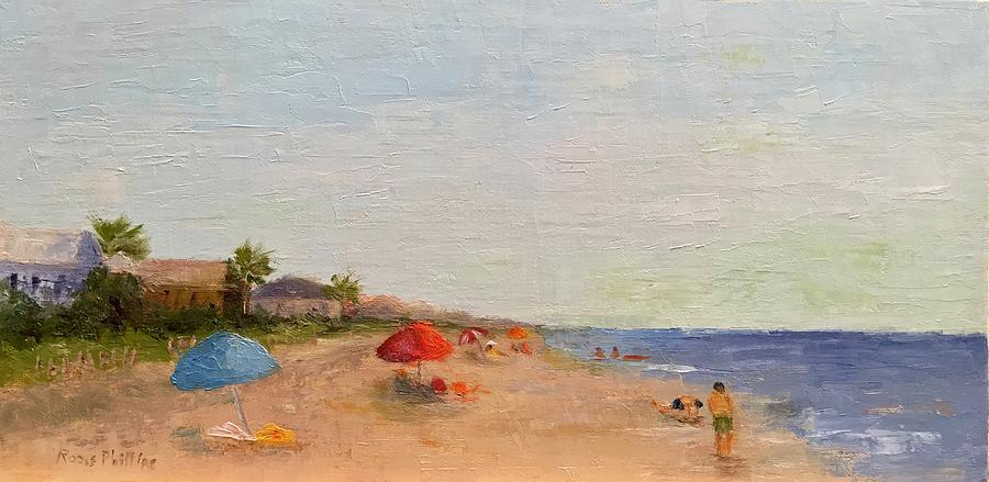 A Day At The Beach Painting by Rosie Phillips