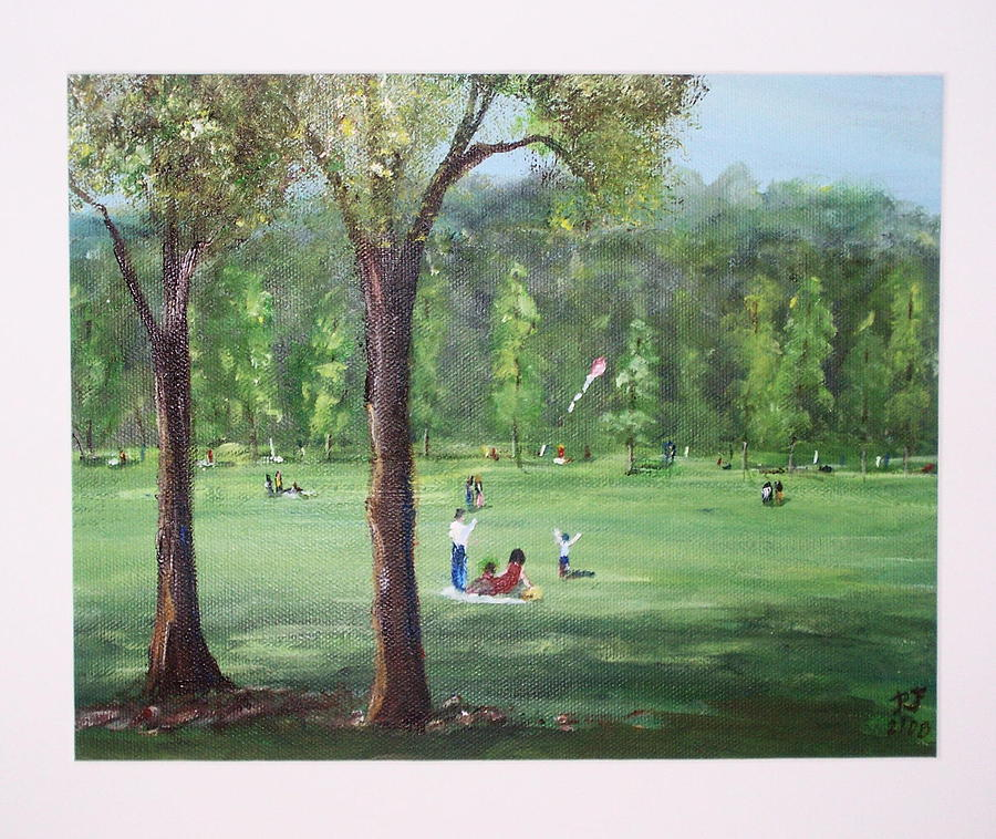 A Day At The Park Painting by Richard Finnell