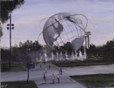 World Fair Painting - A Day At The World Fair by Richard Finnell