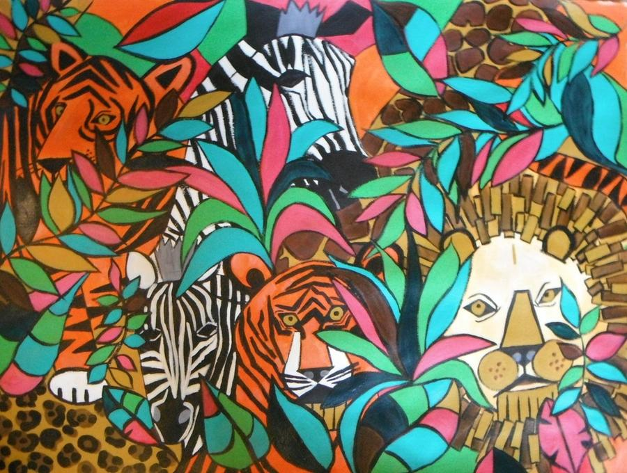 Original Painting - A Day At The Zoo by Kelli Perk