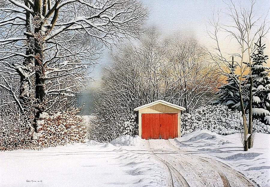 Scenic Painting - A Day In December by Conrad Mieschke