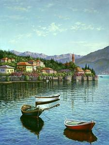 A Day In Monterosso  Painting by Suleyman Mavruk
