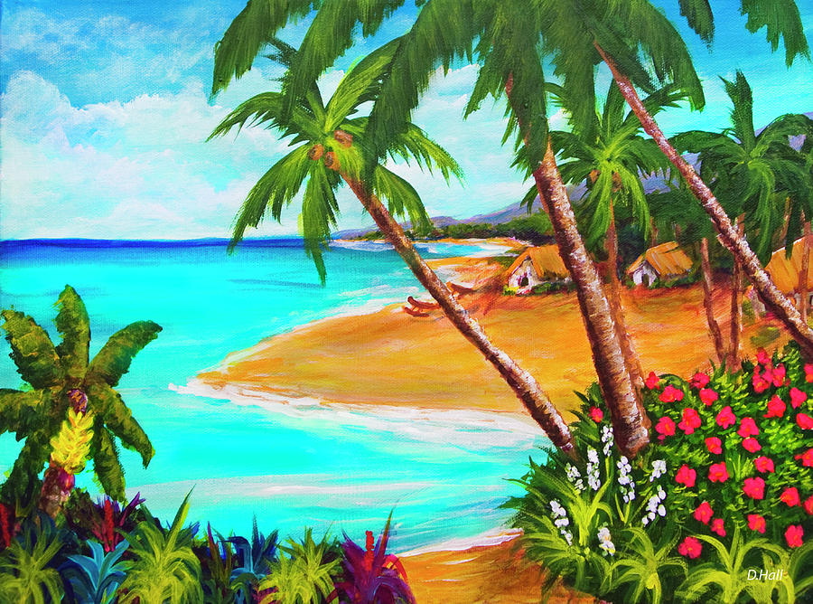 Painting Painting - A Day In Paradise Hawaii #359 by Donald k Hall