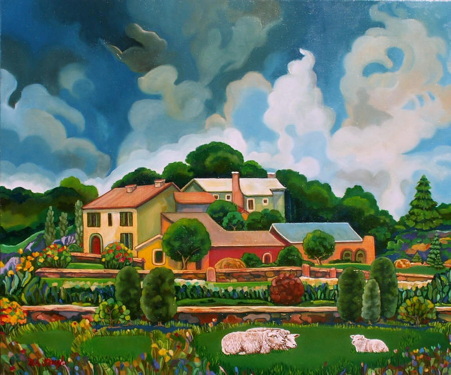Landscapes Painting - A Day In The Country by Mary Ann Gough