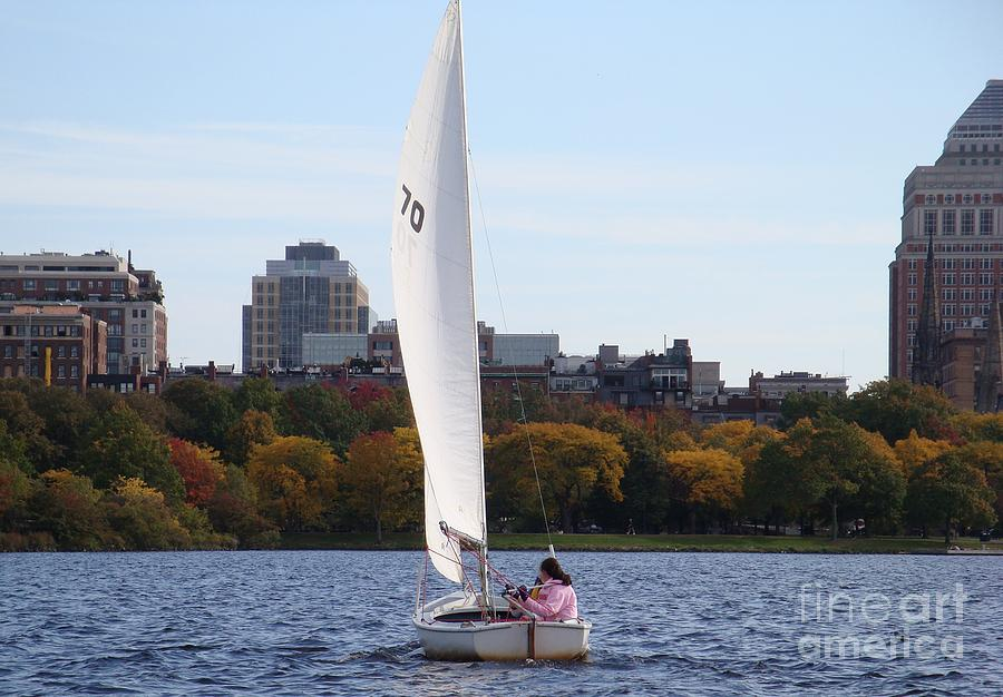 Charles River Photograph - a day on the Charles by Robyn Leakey