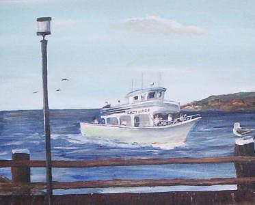 A Day Out On The Water  Painting by Richard Finnell