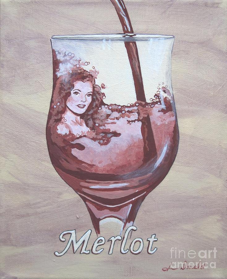Wine Painting - A Day Without Wine - Merlot by Jennifer  Donald